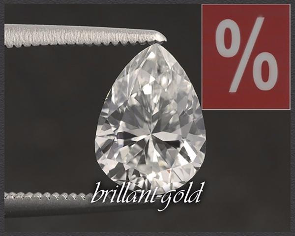 Diamant im Tropfen Schliff 0,44ct, G, VS2