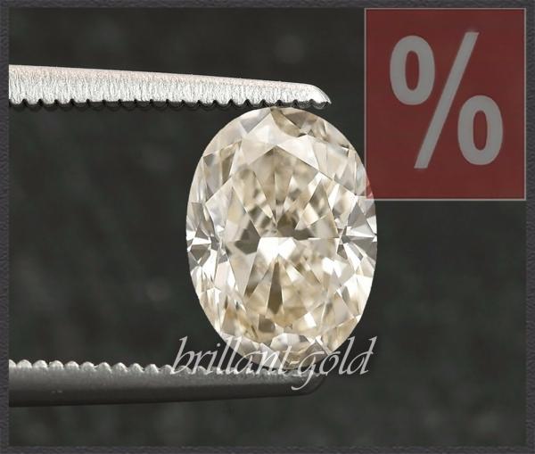 Diamant mit 1,27ct, Oval Schliff, Champagner/VS2
