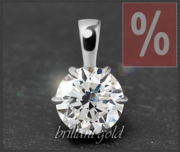 Brillant 585 Gold Anhänger 1,41ct, Wesselton, VS