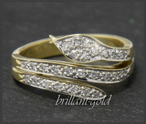 Diamant Schlangen Ring mit 0,50ct, 585 Gold