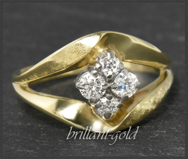 Vintage 0,50ct Diamant 585 Gold Ring um 1950