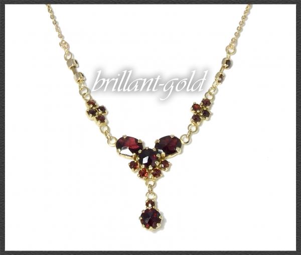 Antikes Gold Collier mit 7,5ct roten Granaten