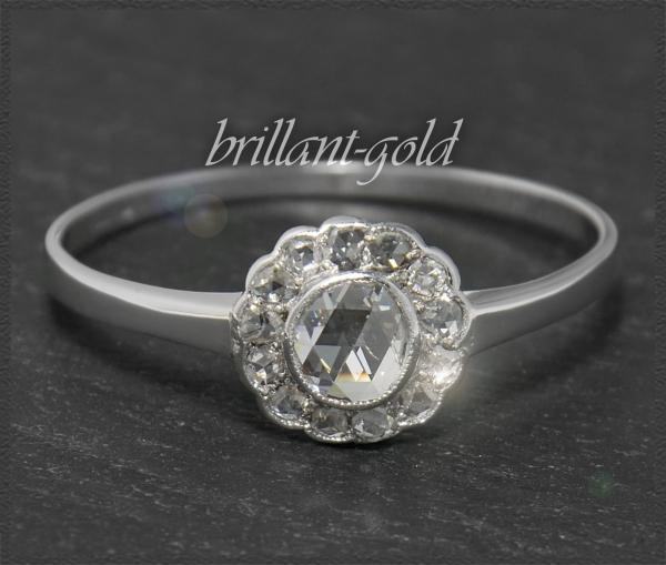Diamant Ring mit 0,70ct, 585 Gold, Antik um 1925