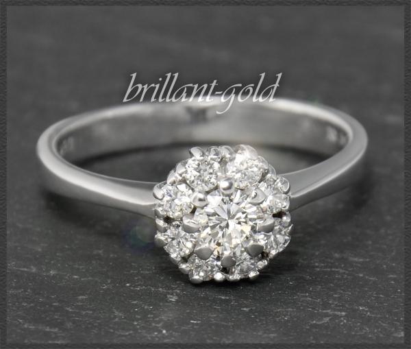 Lupenrein & River 0,70ct Brillant Ring, 750 Gold
