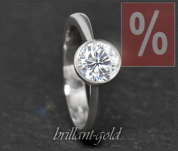 Brillant 585 Gold Ring 1,09ct, River D, VS1