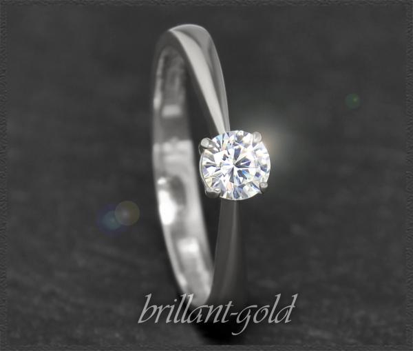 Brillant 585 Gold Ring; 0,35ct, Si1; DGI Zertifikat