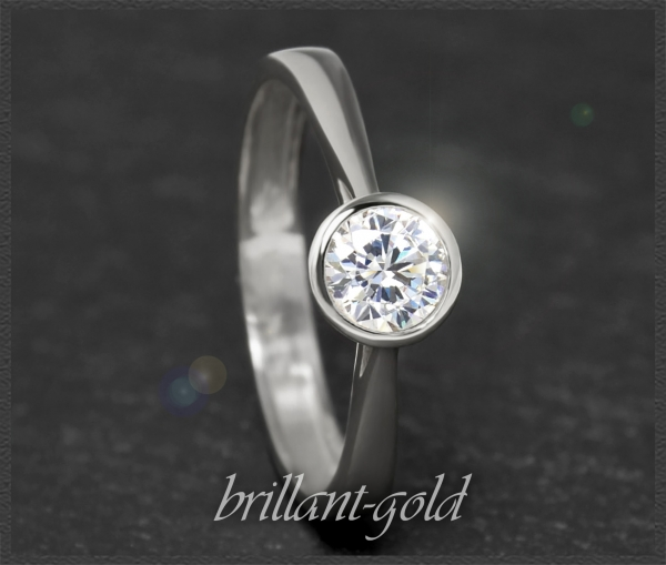Brillant Ring 585 Weißgold 0,52ct, VS2