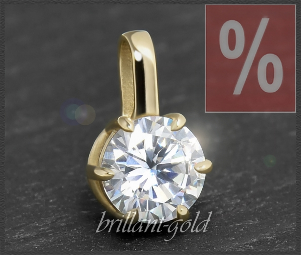 Diamant Anhänger 1,39ct, TW & Si2, 585 Gold