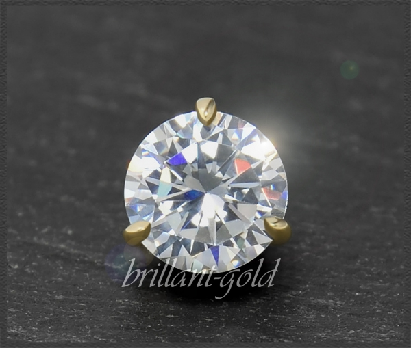 Brillant 585 Gold Anhänger 1,14ct, Wesselton, Si1