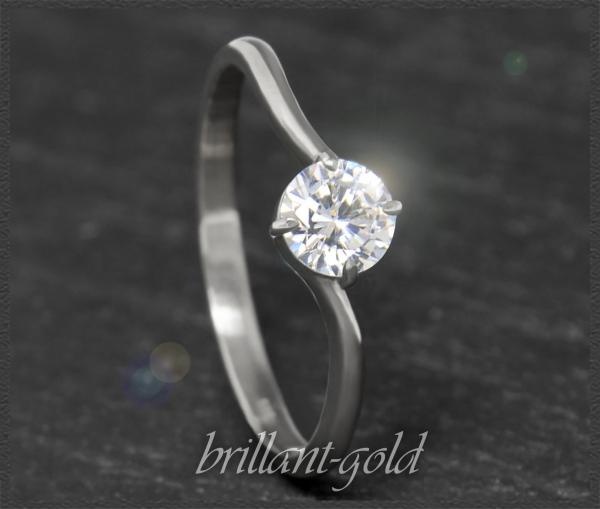 Diamant Brillant 585 Weißgold Ring mit 0,54ct