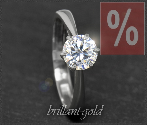 Diamant Gold Solitär Ring 1,04ct, River D & VVS