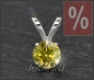 Mobile Preview: Brillant 585 Gold Anhänger, 0,18ct, intensiv gelb