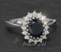 Preview: 4,20ct Diamant Brillant & Saphir Ring, Vintage 1950