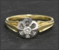 Preview: Vintage Diamant Ring, 0,16ct Brillant, Gold & Platin