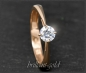 Preview: Brillant Ring aus 585 Rotgold; 0,52ct; VS2