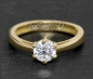 Preview: Brillant 585 Gold Ring; 0,99ct, Top Wesselton, Si3