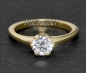 Preview: Brillant 585 Gold Ring mit 1,02ct, Si2; Solitärring
