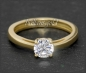 Preview: Brillant 585 Gold Ring 0,88ct, Top Wesselton, VVS1