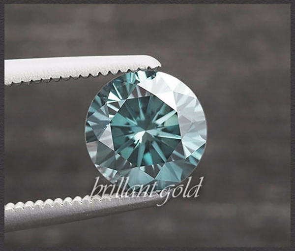 Diamant im Brillant Schliff 0,16ct, Blau / Si2