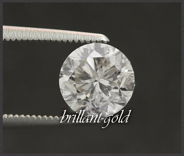 Diamant im Brillant Schliff, 0,65ct, H / Si3-P1