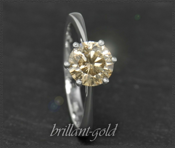 Diamant Ring mit IGI Zertifikat, 1,14ct Brillant