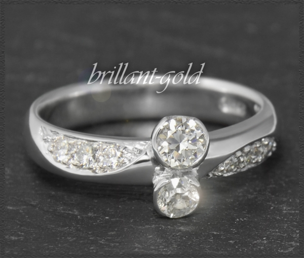 Diamant Ring Antik um 1925 mit 0,85ct Brillanten