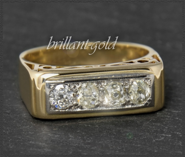 Antiker 0,58ct Diamant Ring, 585 Gold