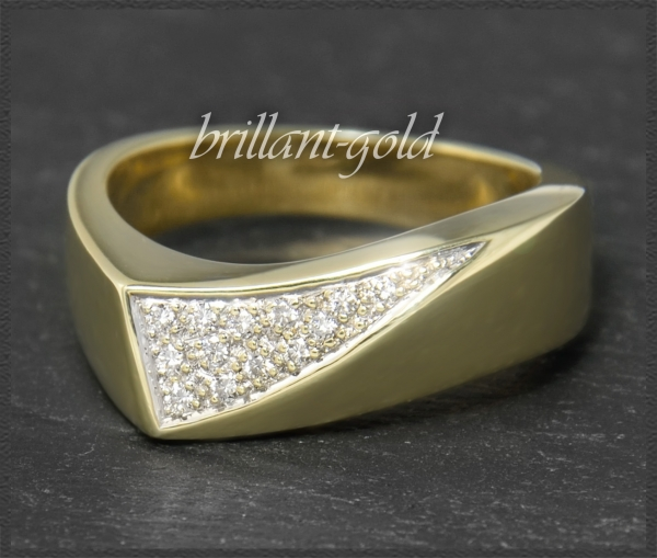 Diamant 585 Gold Ring, 0,15ct Lupenrein & River D