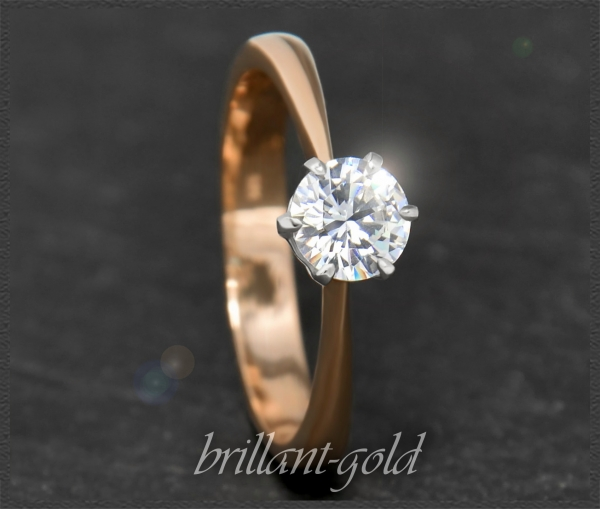 Brillant 585 Gold Ring 0,76ct; Si1, Verlobungsring