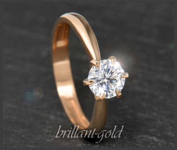 Brillant 585 Gold Ring 0,87ct; Top Wesselton; Si1
