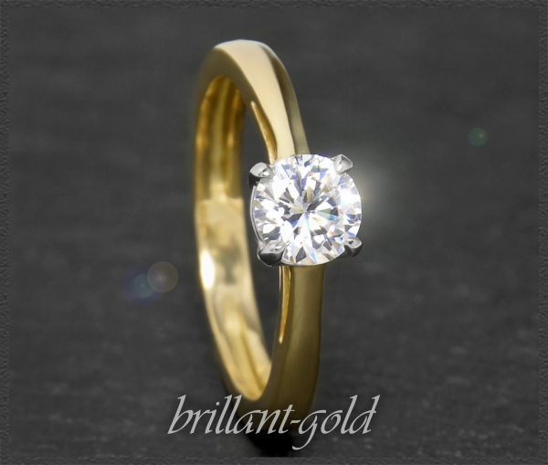 Brillant 585 Gold Ring mit 0,84ct, River E