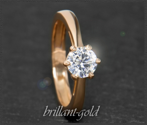Brillant 585 Rotgold Ring 0,99ct, River E, Si1
