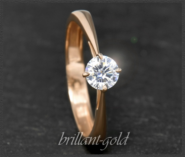Brillant Ring aus 585 Rotgold; 0,52ct; VS2