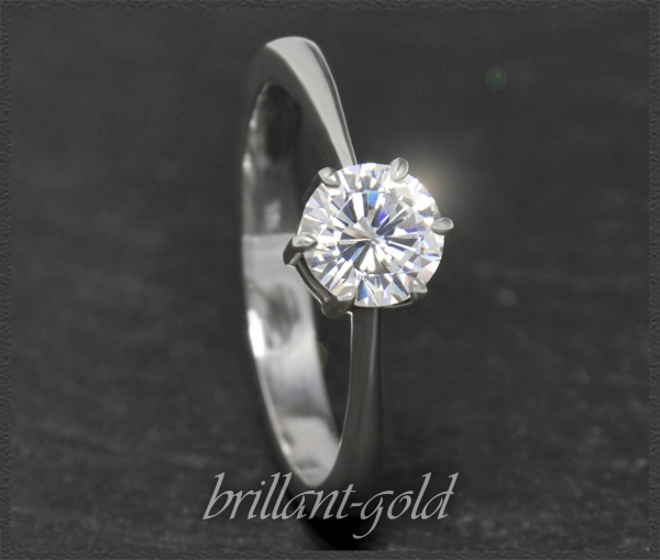 Brillant 585 Weißgold Ring; 0,95ct, Si