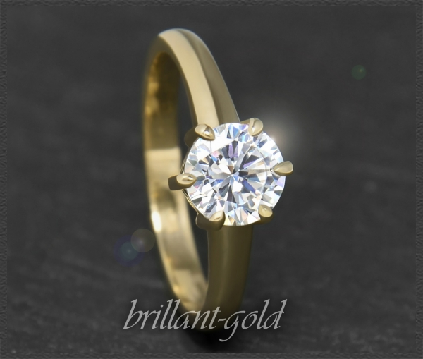 Brillant 585 Gelbgold Ring 1,12ct, Si2