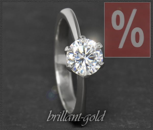 Brillant 585 Gold Ring 1,15ct, Top Wesselton, Si