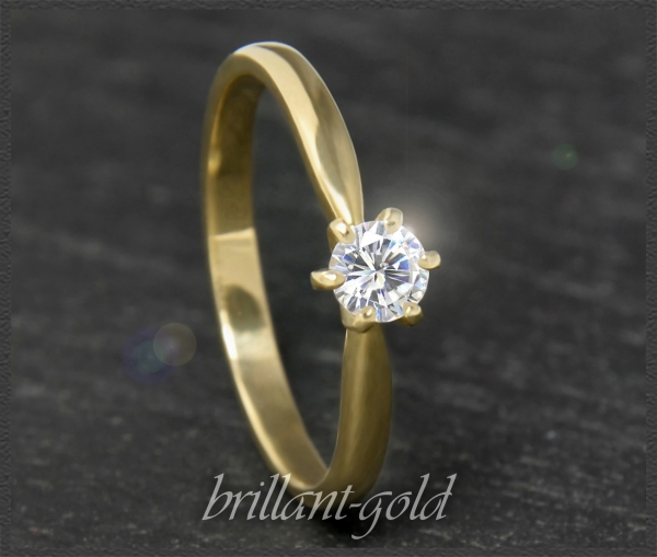 Brillant 585 Gold Ring, 0,24ct; River D, VVS1