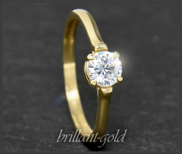 Brillant 585 Gold Ring mit 0,54ct; VS1
