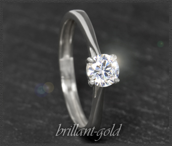 Brillant  Gold Ring mit 0,66ct, Top Wesselton & Si