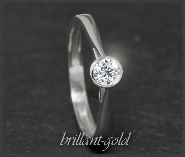 Diamant Ring aus 585 Gold; 0,33ct, Wesselton & Si