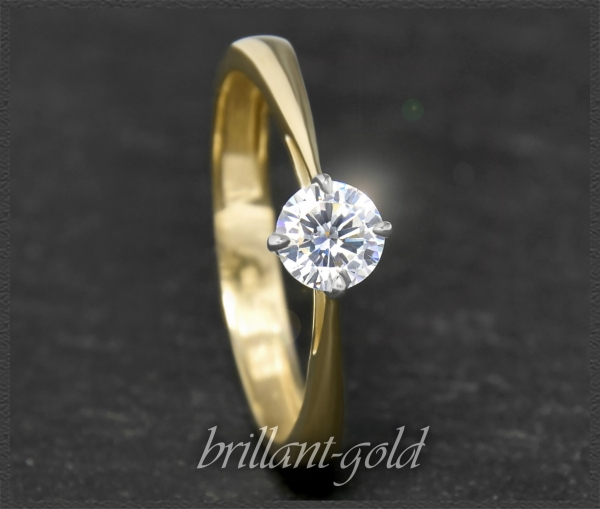 Brillant Diamant Ring 0,52ct, River, Si; 585 Gold