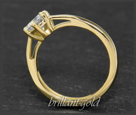 Brillant 585 Gold Ring; 0,99ct, Top Wesselton, Si3