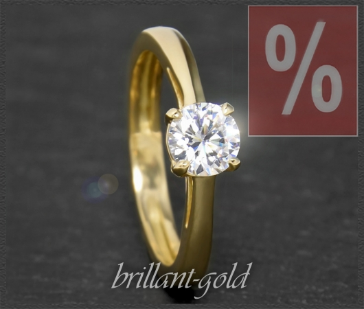 Brillant 585 Gold Ring 0,88ct, Top Wesselton, VVS1