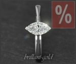 1,00ct Diamant 585 Gold Ring, Navette-Schliff, Si