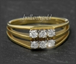 Diamant Ring, 585 Gold, 0,38ct Brillanten, Vintage