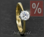 Brillant 585 Gold Ring, 1,0ct; Verlobungsring